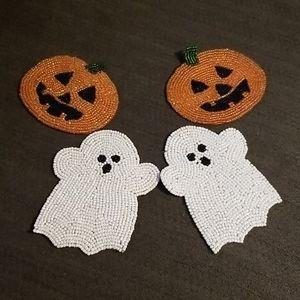 Halloween Beaded Coaster Set